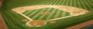 Overhead view of baseball field.